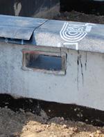 Бетонный армированный фундамент для сруба бани
