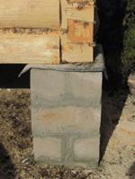 Опорно-столбчатый фундамент для сруба бани