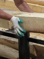 Свайно-винтовой фундамент для сруба бани